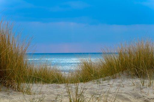 Beach, Sand, Sky, Blue, Nature, Sea, Wave