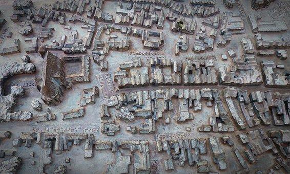 Verden Of All, Miniature, Bronze, Downtown, Relief