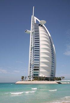 Burj Al Arab, Canvas, Dubai, Hotel, Tourism