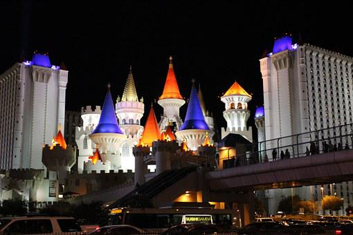 Las Vegas, Castle, Hotel, Gaming, Vegas, City, Colorful