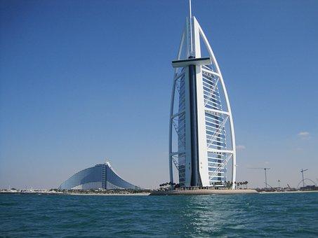 Dubai, Burj, Building, City, Architecture, Tower