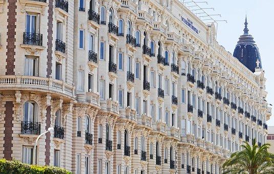 Cannes, Croisette, Hotel, Côte D ' Azur, Facade