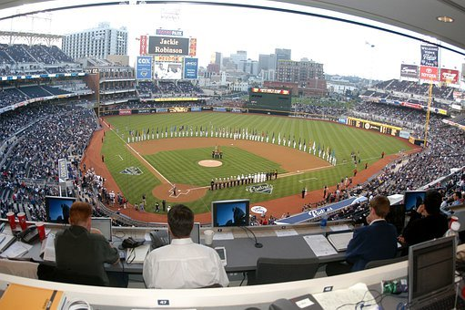 Stadium, Baseball, Field, Fans, Spectators, Houston