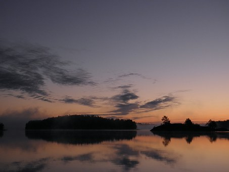 Finnish, Savonlinna, Saimaa, Water, Lake, Sunrise
