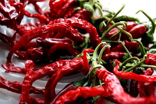 Red, Chili, Peppers, Dried, Spicy, Foods, Fruits