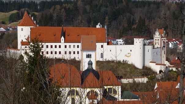 Allgäu, Füssen, Of The Calvary, Panorama, Old Town