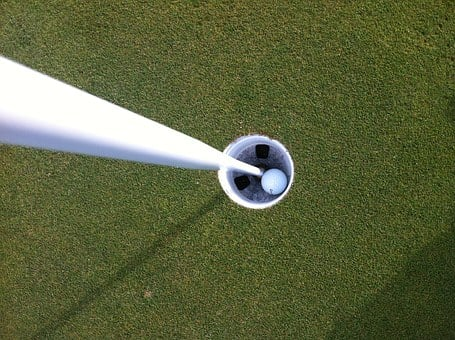 Golf, Ball In Hole, Hole In One, Ball, Hole, Green