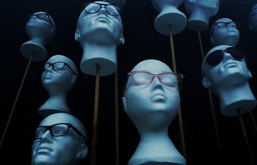 Styrofoam, Head, Glasses, Mannequin, Model