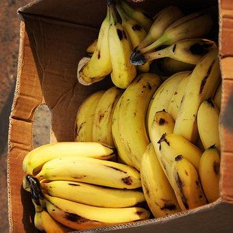 Banana, Yellow, Fruit, Food, Healthy, Organic, Fresh