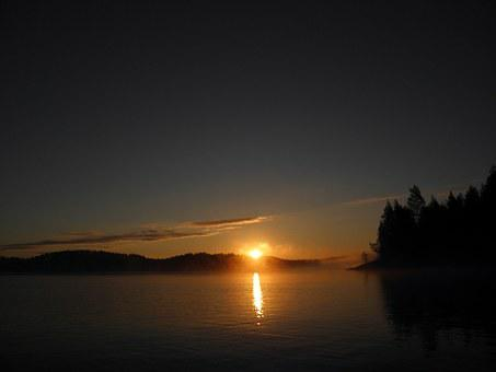 Finnish, Savonlinna, Lake In Finland, Lake, Sun