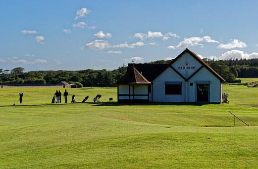 Golf Course, Pro Shop, Golf, Golfers, Landscape