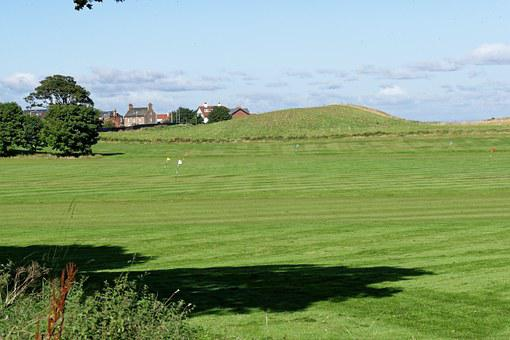 Golf, Golf Practice Ground, Flags, Landscape, Scenery
