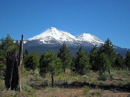 Mt Shasta, Mountain, Snow, Outdoor, Majestic