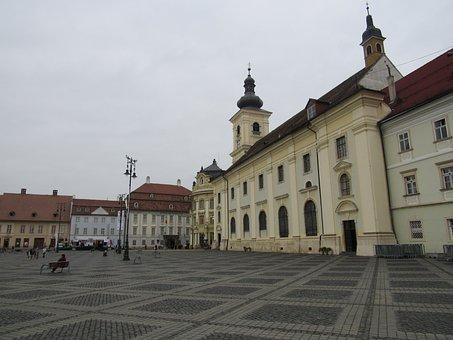 Sibiu, Transylvania, Romania, Buildings, Old Town