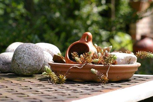 Mediterranean, Ceramic, Garden, Pots, Pot, Sound