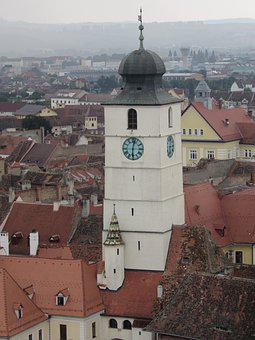 Sibiu, Transylvania, Old Town, Council Tower, Romania