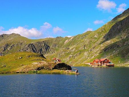 Balea Lac, Romania, Water, Reflections, Transfagarasan