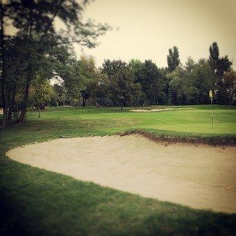 Golf, Green, Bunker, Sand, Prato, Buca, Holes, Sport