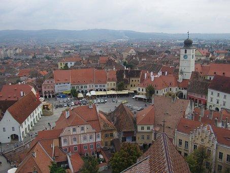 Sibiu, Transylvania, Small Market, Buildings, Old Town