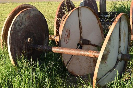 Roll, Empty, Rusty, Agriculture, Summer, Out Of Date