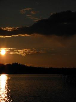 Finnish, Savonlinna, Sunset, Landscape, Nature, Summer