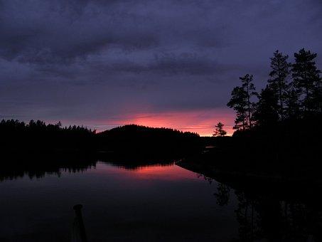 Evening Sky, Sunset, Savonlinna, Saimaa, Finnish