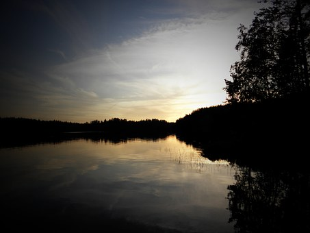Lake, Lake In Finland, Saimaa, Savonlinna, Sunset