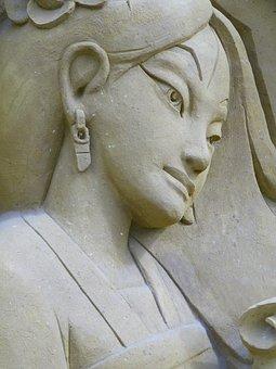 Festival, Sand Sculptures, The Touquet, Pocahontas