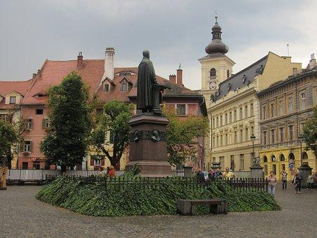 Sibiu, Transylvania, Old Town, Buildings, Romania
