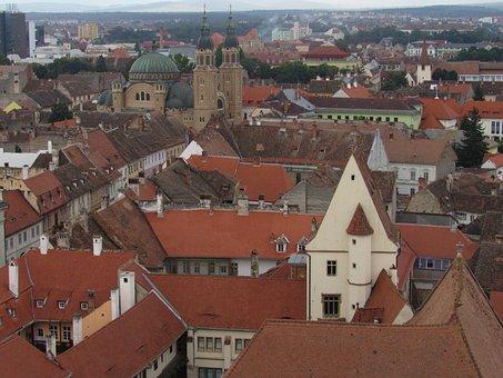Sibiu, Transylvania, Romania, Buildings, Center