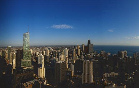 Trump Tower, Chicago, Cityscape, Scene, Skyline, Office