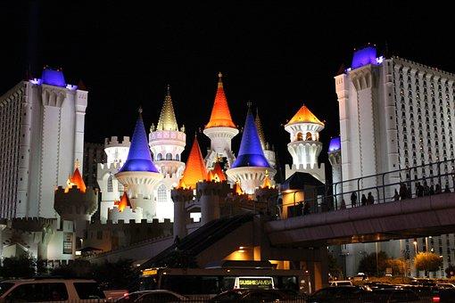 Las Vegas, Castle, Hotel, Gaming, Vegas, City, Colorful