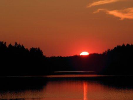 Summer, Venettely, Sunset, Saimaa, Savonlinna, Finnish