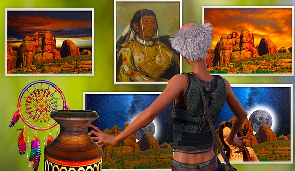 Art Gallery, Studio, Paintings, Artifacts, Native Art