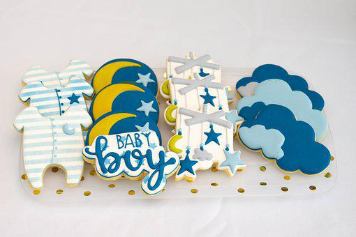 Baby Shower, Cookies, Boy Theme