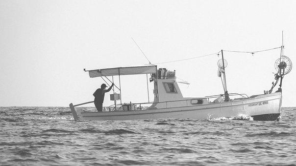 Boat, Sea, Man, Old, Fisherman, Marine, Nautical