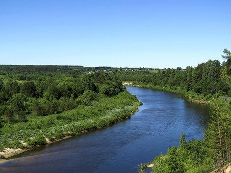 Landscape, River, Forest, Desktop, Nature