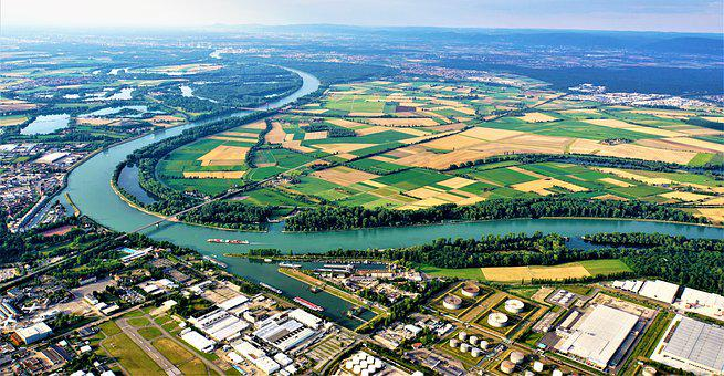 Rhine, River, City, Speyer, Germany, Sachsen