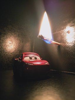 Car, Fire, Toy
