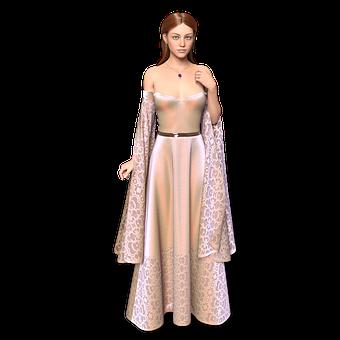 Woman, Goddess, Gown, Dress, Princess
