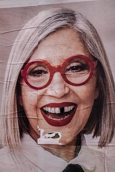 Woman, Silly, Photo, Gap, Tooth