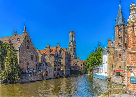 Canal, River, Architecture, Buildings, City, Old