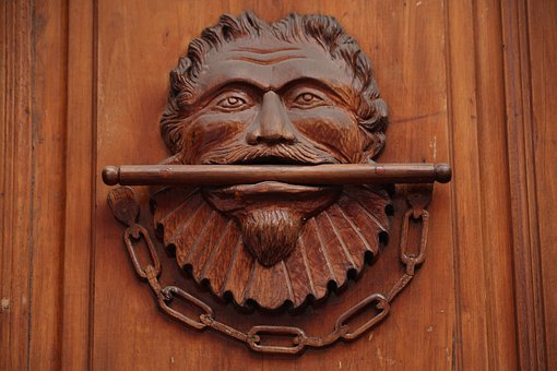 Wood, Brown, Ornate, Carved In Wood, Door, Decoration