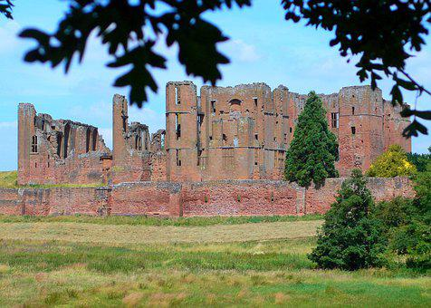 Castle, Ruins, Architecture, England, Warwickshire, Old