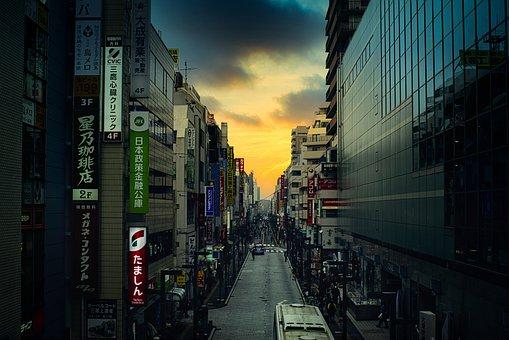 City, Urban, Street, Pedestrian, Architecture, Evening
