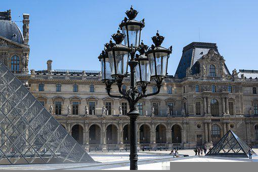 Architecture, Court, Building, Modern, Louvre, Former