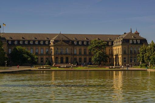 New Castle, Architecture, Building, Stuttgart, Germany