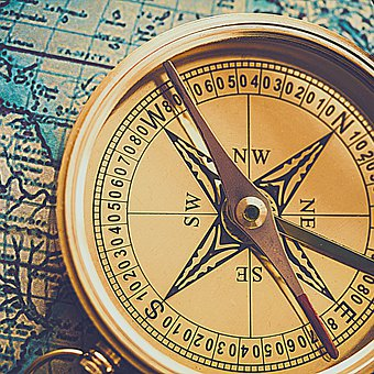 Compass, Direction, Heading, Map