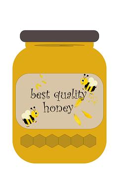 Honey, Jar, Bees