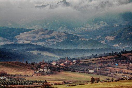Landscape, Outdoor, Nature, Mountain, Sky, Clouds